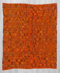 Kilim Rug Handwoven Vintage Embroidered Orange Turkish Adana Area Kilim Rug