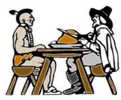 Thanksgiving Pilgrims And Indians Free Clipart Picture Of A Pilgrim And An Indian Eating Turkey