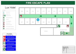 fire escape plan for hotels house exit floor template amazing