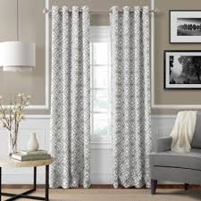 Grey And White Curtains Buy Light Gray Curtain Panel From Bed Bath Beyond