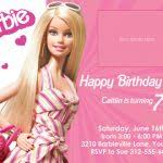 barbie birthday invitation card free printable elegant barbie