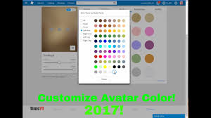 roblox how to change avatar skin color in 2017 update youtube