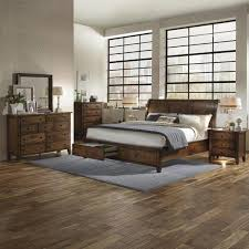 camden chestnut wood 6 piece storage bedroom set free shipping