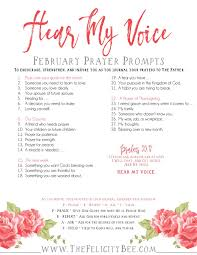 prayers of thanksgiving for healing hear my voice february prayer prompts u2014 the felicity bee