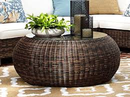 Wicker Storage Ottoman Coffee Table Innovative Wicker Ottoman Coffee Table Coffee Table Trunk