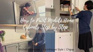 how to paint mobile home cabinets single wide mobile home renovation how to paint mobile home cabinets step by step farmhouse style