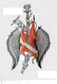 guitar with wings by roxanne111 on deviantart