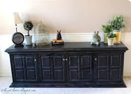 pb inspired black buffet with regard to black distressed dresser