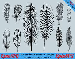 feather design etsy