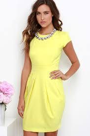 cap sleeve dresses chic yellow dress cap sleeve dress sheath dress 84 00
