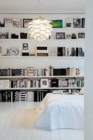 Bookshelf In Bedroom Stunning Decorating Ideas Using Rectangular White Wooden Shelves