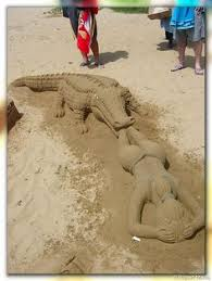 easy sand sculptures for kids google search beach ideas