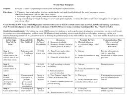 appealing business work plan template example with purpose and