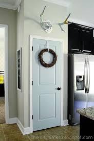 Colored Interior Doors Pantry Door Color Benjamin Palladian Blue Kitchen
