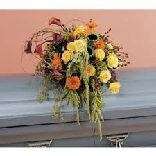 how to make a casket spray sympathy and funeral flowers for the casket enchanted garden delmar