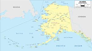 Political Map Of Canada Detailed Clear Large Map Of Alaska Ezilon Maps