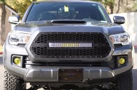 tacoma grill light bar custom steel aftermarket grill 120w led light bar grille 16 17