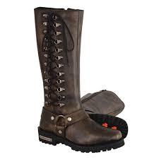ladies motorbike boots milwaukee leather ladies motorcycle boots distressed brown