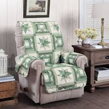 Quilted Recliner Covers Innovative Textile Solutions Star Quilt Recliner Slipcover Green