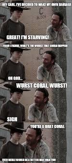 Walking Dead Meme Rick Crying - coral walking dead memes rick dick grimes coral meme collection