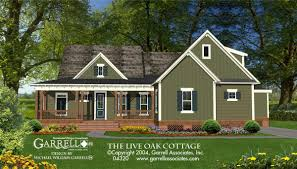 the live oak cottage house plans by garrell associates inc