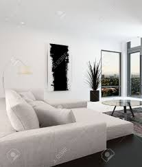 Black Living Room white and black living room interior with a close up view of