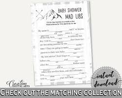 baby mad libs mad libs baby shower mad libs adventure mountain baby shower mad