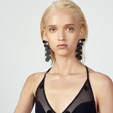 grande earrings petal drop earrings lele sadoughi