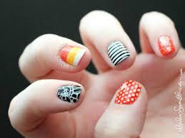 halloween nail art design ideas pumpkins spiderwebs candy corn