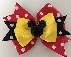 mickey ribbon mickey mouse bow etsy