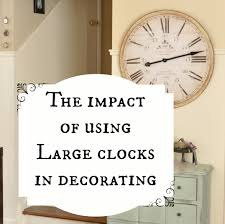 wall decor rustic oversized wall clock with wooden material for