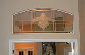 Interior Door With Transom Etched Glass Transom To Match The Front Doors The Glass Door Store