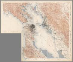 Map Of Greater San Francisco Area by Composite San Francisco Bay Area Topography 1913 David Rumsey