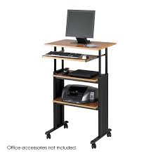 Mobile Computer Desk Muv Stand Up Adjustable Height Desk Safco Products