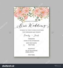 Nice Wedding Invitation Cards Beautiful Wedding Floral Vector Invitation Sample Card Design