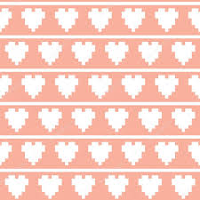 pixel wrapping paper pixel heart seamless vector pattern stock vector dmitriylo