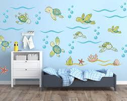 Turtle Nursery Decor Sea Turtle Wall Etsy