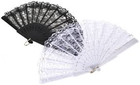 lace fans black lace or white lace fan great for a