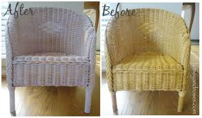Black Wicker Bedroom Furniture by How To Paint A Wicker Chair With Chalk Paint Honey U0026 Roses