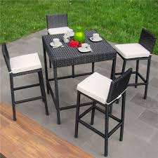 Seater Large Synthetic Rattan High Chair Dining Table Outdoor - Heavy patio furniture