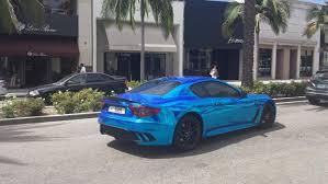 maserati quattroporte chrome blue chrome maserati mc stradle w qatari plates rodeo drive