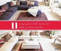 Ikea Sofa Red Ways Your Ikea Sofa Can Look A Million Bucks