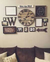 Gallery wall with handmade pallet clock o 98 this