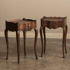 pair country french solid oak nightstands end tables