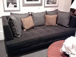 furniture grey upholstered deep sectional sofa with wicket rattan