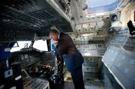 nasa chief recalls astronaut days in shuttle trainer seattlepi com