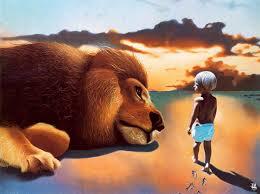 aliexpress buy free shipping cartoon animal lion boy scenery