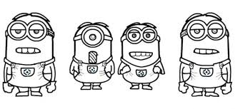 coloring pages pictures minions color minions pictures
