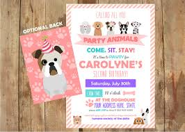 puppy party invitations come sit stay personalized