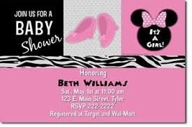 minnie mouse baby shower invitations uprintinvitations zibbet